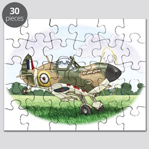 cartoon spitfire taking off Puzzle