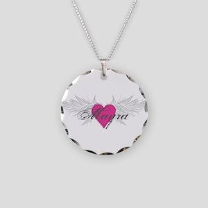 Mayra-angel-wings Necklace Circle Charm