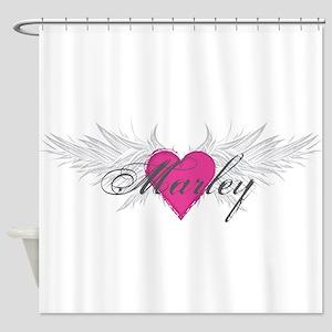 Marley-angel-wings Shower Curtain