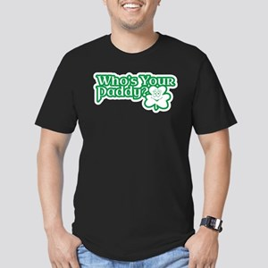Whos Your Paddy? Men's Fitted T-Shirt (dark)