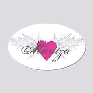 Maritza-angel-wings.png 20x12 Oval Wall Decal