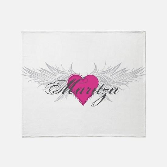 Maritza-angel-wings.png Throw Blanket