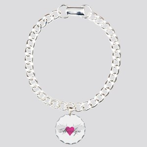 Marilyn-angel-wings Charm Bracelet, One Charm