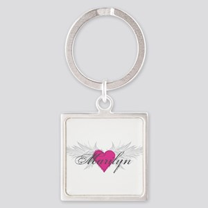 Marilyn-angel-wings Square Keychain