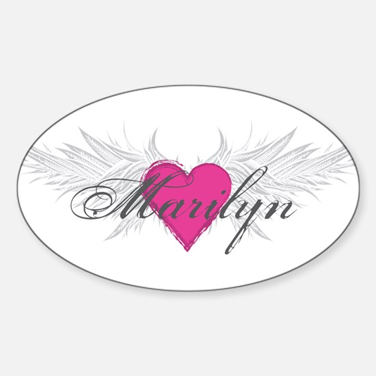 Marilyn-angel-wings.png Sticker (Oval)