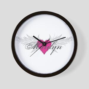 Marilyn-angel-wings Wall Clock