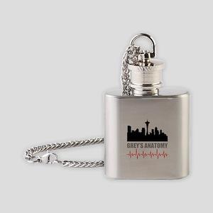 Grey's Anatomy Seatle Flask Necklace