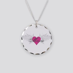 Marie-angel-wings Necklace Circle Charm