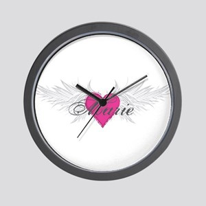 Marie-angel-wings Wall Clock