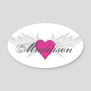 My Sweet Angel Maddison Oval Car Magnet