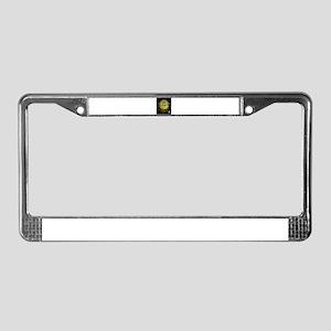 cropcircle little alien grey License Plate Frame