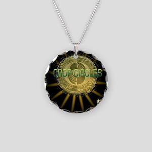 cropcircle little alien grey Necklace Circle Charm