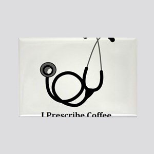 "Funny Doctor - ""I Prescribe Coffee"" Rectangle Magn"
