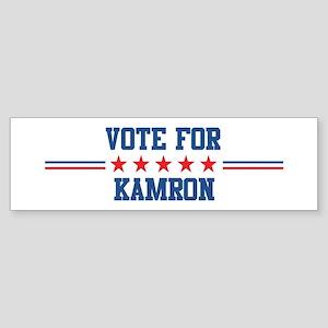 Vote for KAMRON Bumper Sticker