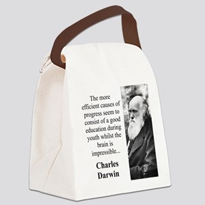 The More Efficient Causes - Charles Darwin Canvas