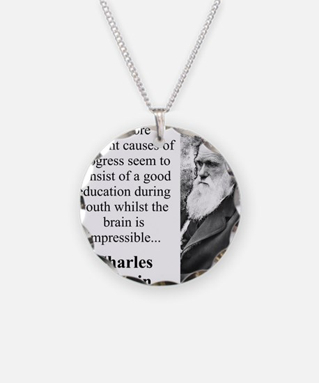 The More Efficient Causes - Charles Darwin Necklac