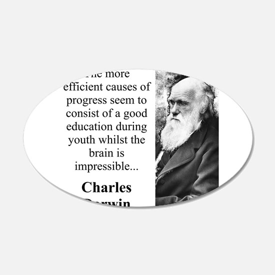 The More Efficient Causes - Charles Darwin Decal Wall Sticker