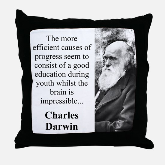 The More Efficient Causes - Charles Darwin Throw P