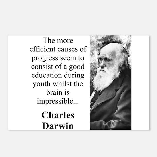 The More Efficient Causes - Charles Darwin Postcar