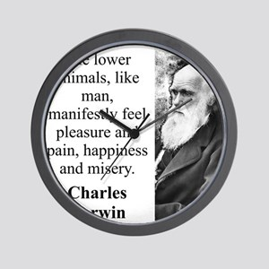 The Lower Animals - Charles Darwin Wall Clock