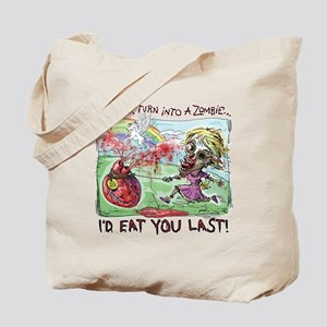 Be Mine Zombie Girl Tote Bag