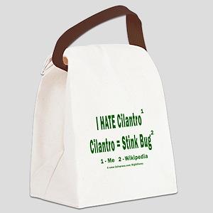 Cilantro = Stink Bug Canvas Lunch Bag