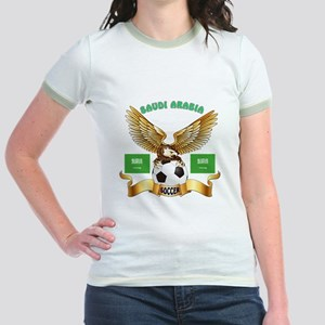 Saudi Arabia Football Design Jr. Ringer T-Shirt
