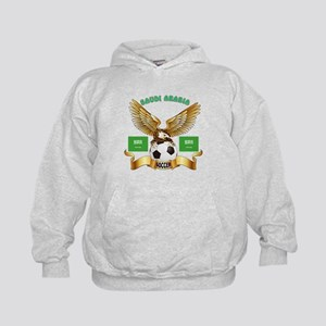 Saudi Arabia Football Design Kids Hoodie