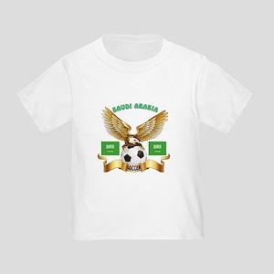 Saudi Arabia Football Design Toddler T-Shirt