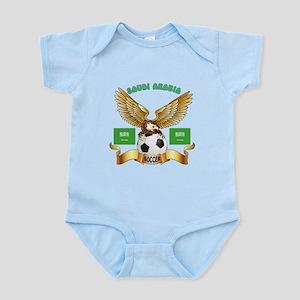 Saudi Arabia Football Design Infant Bodysuit
