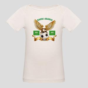 Saudi Arabia Football Design Organic Baby T-Shirt