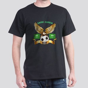 Saudi Arabia Football Design Dark T-Shirt