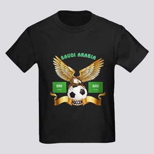 Saudi Arabia Football Design Kids Dark T-Shirt