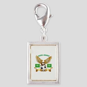 Saudi Arabia Football Design Silver Portrait Charm