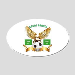 Saudi Arabia Football Design 20x12 Oval Wall Decal
