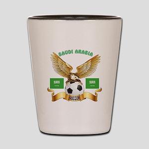 Saudi Arabia Football Design Shot Glass