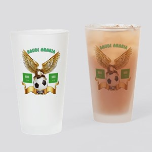 Saudi Arabia Football Design Drinking Glass