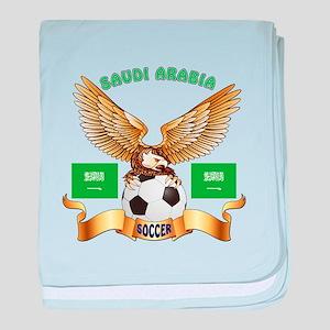 Saudi Arabia Football Design baby blanket