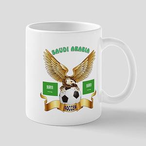 Saudi Arabia Football Design Mug