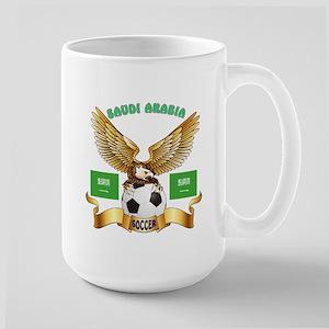 Saudi Arabia Football Design Large Mug