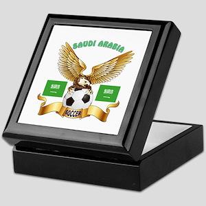 Saudi Arabia Football Design Keepsake Box