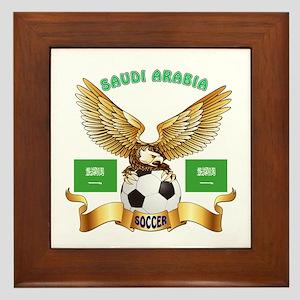Saudi Arabia Football Design Framed Tile