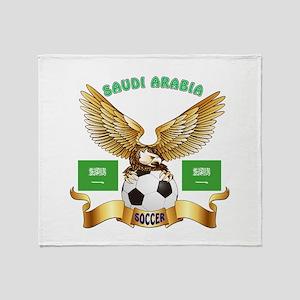 Saudi Arabia Football Design Throw Blanket