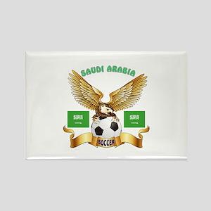 Saudi Arabia Football Design Rectangle Magnet