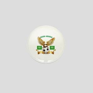 Saudi Arabia Football Design Mini Button
