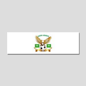 Saudi Arabia Football Design Car Magnet 10 x 3