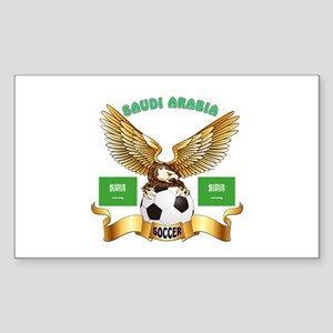 Saudi Arabia Football Design Sticker (Rectangle)