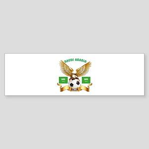 Saudi Arabia Football Design Sticker (Bumper)