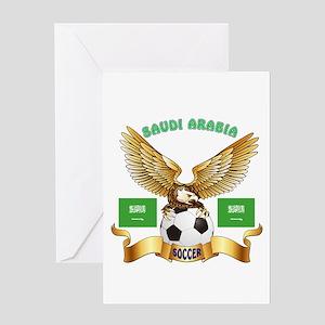 Saudi Arabia Football Design Greeting Card