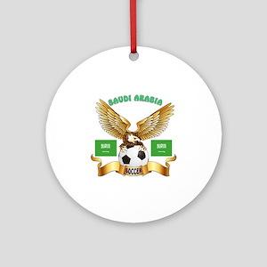 Saudi Arabia Football Design Ornament (Round)